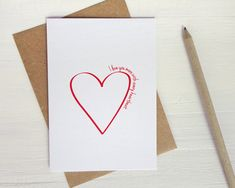Anniversary card I love you more with every by AvenirCards on Etsy