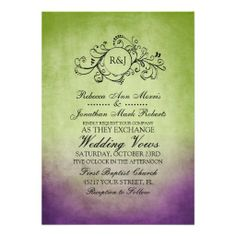 69 best wedding invitation ideas images on pinterest invitations purple lavender green wedding rustic green purple bohemian wedding invitation from zazzle fandeluxe Image collections