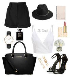 """""""i miss summer"""" by saniyags on Polyvore featuring IRO, BeckSöndergaard, Forever 21, Chanel, Tory Burch, MICHAEL Michael Kors, Daniel Wellington, Bing Bang and Diane James"""