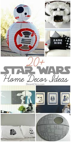Star Wars Home Decor Ideas Birthdays and holidays are perfect excuses to drum up a little extra Star Wars fun at home but I like to enjoy Star Wars year round. It's easy, just add a little Star Wars decor at home and you'll be geeking out every day. Star Wars Decor, Decoration Star Wars, Star Wars Crafts, Decoration Crafts, Star Wars Zimmer, Star Wars Bedroom, Diy Home Decor For Apartments, Apartments Decorating, Diy Casa