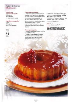 Revista bimby 11 Pudding Desserts, Dessert Recipes, Other Recipes, Sweet Recipes, Healthy Tips, Cooking Tips, Dairy Free, Food And Drink, Favorite Recipes