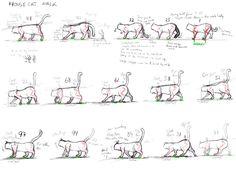 walking cat animation - Google Search