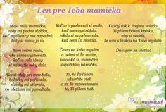 Najmama.sk Mini, Poems, Jar, Teacher, Education, Rowan, Crocheting, Tejidos, Poetry