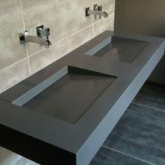 Concrete Sink, Concrete Furniture, Bathroom Furniture, Concrete Bathroom, Concrete Countertops, Kitchen Furniture, Toilette Design, Restroom Design, Bathroom Interior Design