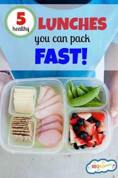 school lunch ideas, healthy school lunches, lunch packing tips, cook and prep ahead, meal planning, lunchbox ideas, picky eaters via MOMables.com