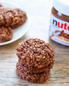 4 Ingredient Flourless Nutella Oatmeal Cookies | Kirbie's Cravings | A San Diego food & travel blog