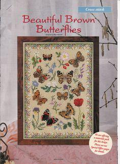 Beautiful Brown Butterflies Cross Stitch Chart by TheRustyNailPail