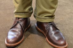 Alden chromexcel chukkas only get better with wear..