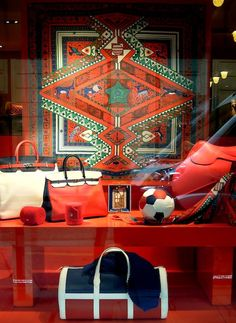 The windows are always fantastically done at the Hermes flagship store in Paris!