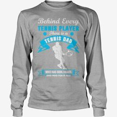 Behind #Tennis Player There Is A #Tennis Dad Tshirt, Order HERE ==> https://www.sunfrog.com/Jobs/125856348-740272156.html?58114, Please tag & share with your friends who would love it, #renegadelife #xmasgifts #birthdaygifts tennis design, tennis drills, tennis problems #tennis #holidays #events #gift #home #decor #humor #illustrations #tennishumor #tennisproblems