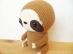 PATTERN: Cuddle-Sized Sloth Amigurumi Crocheted Sloth