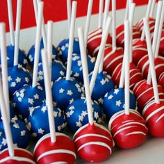 FOURTH OF JULY Cake Pops assorted designs per by cakepopsbymaggie, $30.00
