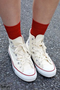 Converse Shoes... that's an interesting way to lace them up!