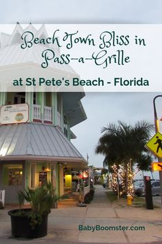 Life's A Beach:Pass-a-Grille at St. Pete's Beach in Florida is a relaxing and quaint beachtown with plenty of kitche and all sorts of birds. The grouper is amazing and it's a wonderful place to hang out and chill. Places In Florida, Visit Florida, Florida Living, Florida Vacation, Florida Travel, Florida Beaches, Clearwater Florida, Beach Travel, Pass A Grille Beach