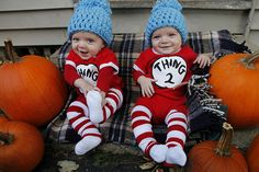 thing 1 thing 2...here's another option w/the winter hats...more tolerable perhaps for babies. ;D