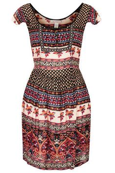 Mixed Print Dress by Band of Gypsies