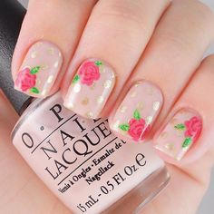 imagenes de manicure y pedicure - nailcare Neutral Nail Designs, Neutral Nails, Rose Nails, Flower Nails, Spring Nail Trends, Spring Nails, New Nail Art, Cool Nail Art, Trendy Nails