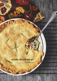 Creamy Chicken Pot Pie: Easy Weeknight Dinner from @Cheryl Tidymom