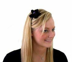 Deep Black Sequined Five Petal Flower, Gorgeously Glowy Sparkly Headband $15.99