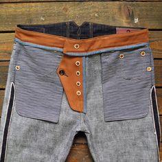 Sprezzatura-Eleganza — thecompanionseye: ✔️18oz. Super slubby Japanese... Tactical Suit, Pantalon Slim Fit, Denim Dungarees, Denim Jeans, Slim Fit Dress Pants, His Jeans, Patterned Jeans, Japanese Denim, Bespoke Tailoring