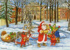 Marjaliisa Pitkäranta Scandinavian, Christmas Cards, Illustrations, Painting, Christmas E Cards, Xmas Cards, Illustration, Painting Art, Paintings