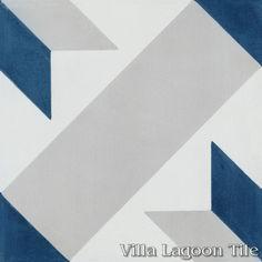 Star Lattice Nautique cement tile, from Villa Lagoon Tile.