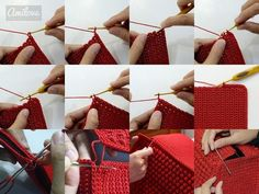 Very elegant and beautiful, this crochet bag. See how to make an elegant crochet bag. It's a wonderful crochet job. Surprise someone with this spectacular crochet bag. Modern Crochet Patterns, Crochet Motifs, Crochet Blanket Patterns, Crochet Handbags, Crochet Purses, Free Crochet Bag, Knit Crochet, Bobble Stitch, Crochet Videos