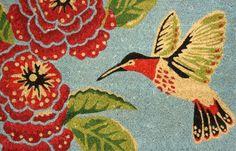 Hummingbird Design Coir Doormat