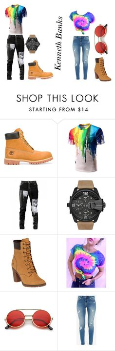 """""""god and goddes"""" by buttabean on Polyvore featuring Timberland, Any Old Iron, Diesel, ZeroUV and Ted Baker"""