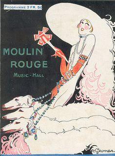 Cover design by Charles Gesmar, ca. 1930, Moulin Rouge Music-Hall program, Paris.