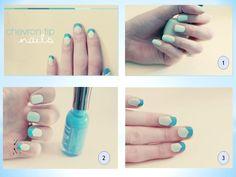 Chevron tip nails -DIY