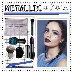 """""""Shine On:Metallic Makeup"""" by holunderbluete ❤ liked on Polyvore featuring beauty, White Label, In Your Dreams, Eva NYC, Deborah Lippmann, Jac Vanek, Chantecaille, Lancôme, Givenchy and Tangle Teezer"""