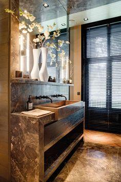 Appartement H. Beautiful Interior Design, Bathroom Interior Design, Beautiful Interiors, Dream Apartment, Apartment Design, Bathroom Inspiration, Interior Inspiration, Marble Bathroom Floor, Boho Bathroom