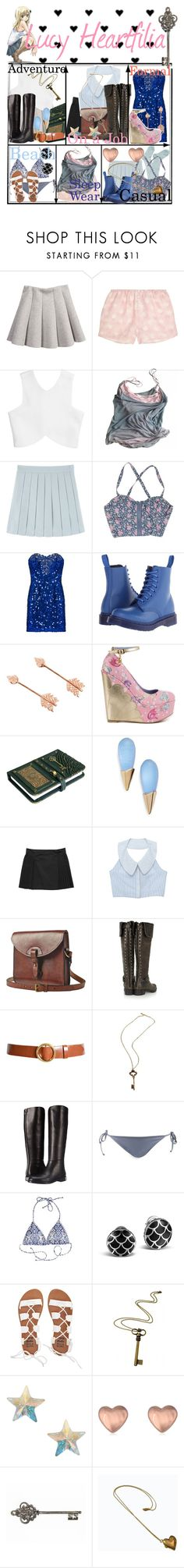 """""""Lucy Heartfilia"""" by janalunamarie23 ❤ liked on Polyvore featuring Rosamosario, Chloé, Vintage Collection, Dr. Martens, Pamela Love, Iron Fist, Alexis Bittar, Toast, Tory Burch and Frame"""