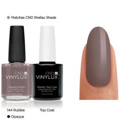 CND Vinylux color chart with virtual swatches