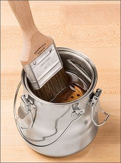 Paint Brush Wash Can - Woodworking