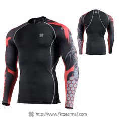Fixgearmall - #FIXGEAR #Compression Base Layer Long Sleeve #Shirts, model no CPD-BH4, Skin Tights and Advanced Performance Fabric. ( #AeroFIX ) #Rashguard #Workout #Fitness #Crossfit #Training #MMA #Jujitsu #Yoga