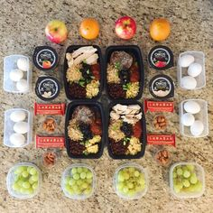 Meal prep including both lunch and snacks! Burrito bowls hardhellip