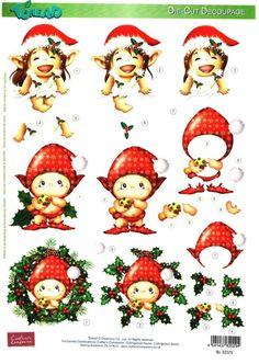 A4 3D Reddy die cut decoupage - Toreads - Christmas #3