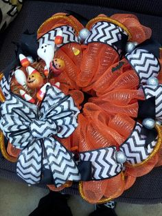 Halloween Candy Corn Chevron