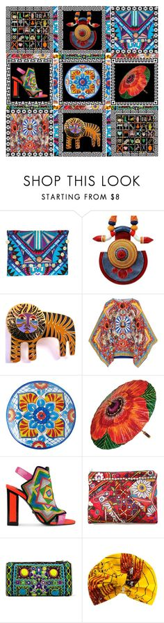 """""""Boho Collage"""" by capricat ❤ liked on Polyvore featuring NOVICA, Laurel Burch, Dolce&Gabbana, Pier 1 Imports, Kat Maconie, Simone Camille, Edie Parker and Jennifer Behr"""