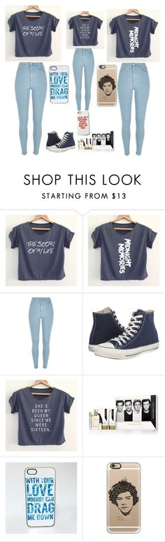 """1D fangirl squad"" by blahblah-lv ❤ liked on Polyvore featuring River Island, Converse and Casetify"