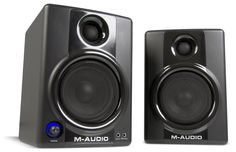 M-Audio Studiophile AV 40 Monitor Speakers: These have provided good sound for my computer for many years. Not perfect, though: there's a fair bit of static noise at rest and the volume knob runs out of detail at low levels. I'm not a loudspeaker expert, though: the problems could be mine, not the speakers'.