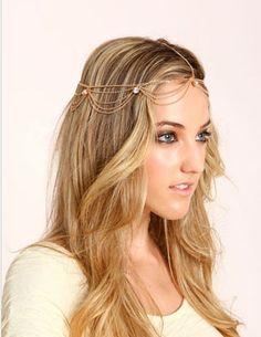 Jeweled Rhinestones Head Chain