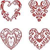 Pretty hearts freebie from Cross Stitch Art.