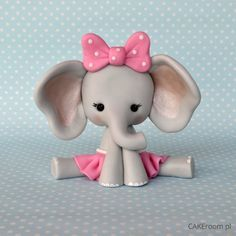 DIY Cute Elephant Girl Polymer Clay Step-by-Step Tutorial from CakeRoom.pl