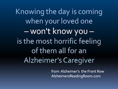 Alzheimer's - They Won't Know You