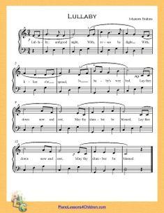 Lullaby And Goodnight Brahm S Lyrics Videos Free Sheet Music