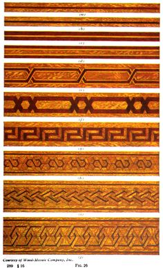 Parquet floor designs from Tile and Parquetry Designing Manual, Craftsman Style Homes, Craftsman Bungalows, Parquet Flooring, Wooden Flooring, Floor Molding, Installing Hardwood Floors, Reclaimed Wood Art, Parquetry, Cool Woodworking Projects