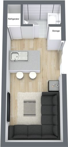 Custom Container Living Floorplan